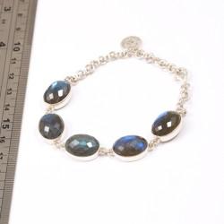 Faceted Labradorite Bracelet
